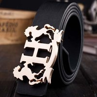 Belts animal leather belt - 2016 famous brand luxury belts for women men h belt male waist strap alloy horse smooth buckle ceinture PU leather cinto masculino