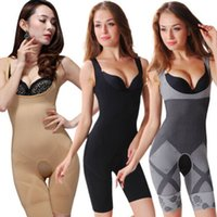 Wholesale 3 Color Sizes Natural Bamboo Slimming Body Suit Shaper Firm Control Anti Cellulite Underwear Full Body Shaper
