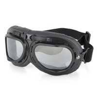 Wholesale Fashion Transparent PC Lens Safety Motorcycle Goggles Black Frame