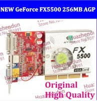 Wholesale via EMS DHL Brand new nVidia Geforce FX5500 M AGP X4 X8 DVI VGA Graphic video card Video card