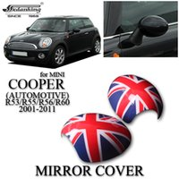 car mirror flag cover - CAR DECORATIONS MIRROR COVER FOR MINI COOPER AUTOMOTIVE R53 R55 R56 R60 Red British flag