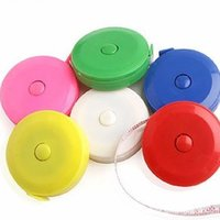 Wholesale 300pc mix color Plastic Clothes tape measure Tape Measures Home tool clothing size Soft feet Automatic retractable mix color H0467a