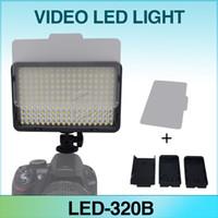85% 5.5V~9V 65° Mcoplus MCO-322B LED Video Light Bi-Color Temperature Adjust 3200K-7500K for DV Camcorder & Digital SLR Camera