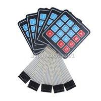 Wholesale 5pcs x Matrix Array Key Membrane Switch Keypad Keyboard for Arduino AVR H