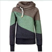 Wholesale New arrive Women Hoody Autumn Winter Sportwear Thickening patchwork Women Sweatshirt Hoodies color hight quality