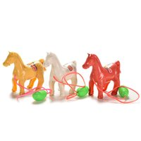 Wholesale DIY Manual Toy Kids Toys Pinch The Horse Will Run Up Pressure Jump Vault Toys For Children