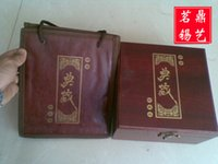 Wholesale Gift upscale boutique ceramic tea tin cans special mahogany boxes gift bag combination of equipment