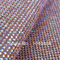 ab mesh - 2014 latest hot fix AB color rhinestone trimming mesh heat transferssuper close and mm ss6 stone crystal for DIY accessories