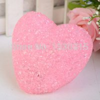 Cheap Romantic 7 Color Change Love Heat Crystal LED Lamp Light Wed Party Decor 6643 tR5a