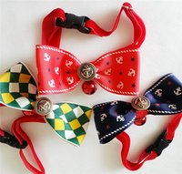 Wholesale New Arrival Pet Dog Bow Tie with Bell Lovely Cute Dogs Clothes Accessories Cloth Ties