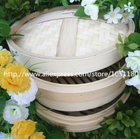 bamboo utensil tray - 30cm bamboo steamers kit pc steamer body pc lid steaming cooking utensil rack pot egg tray hand made kitchen aid