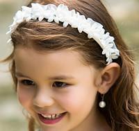 Cheap Girs' head pieces Girls Children's hair band hair accessories headdress Wedding Bridesmaid Crystals Crown Veil Hair Accessories