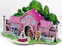 Wholesale 2015 D three dimensional jigsaw puzzle DIY toy paper Exhibition hot sale drawings model many styles DHL