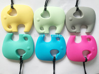 Wholesale NEW Very Large Elephant Silicone Teething Chew Pendant or Teether Necklace pendant
