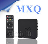 Cheap Original MXQ KODI 14.2 Rooted Smart Android 4.4 TV BOX XBMC Fully Loaded Google Full HD IPTV Live TV Movies Sports With PPV Live Streams