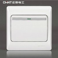 Wholesale Chint wall switch socket NEW7 classic series a dual control switch panel to open the cartridge socket panel