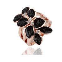 Cluster Rings asian fashion trends - Fashion Trend K Gold Plated Flower Rings For Women High Quality Best GIFT Jewelry For Christmas Day Cheap Rings Jewelry
