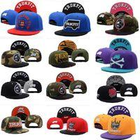 Wholesale camo trukfit snapback hats custom skate MISFIT hats snapbacks snap back cap mixed men women baseball caps color