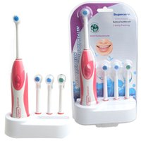 Wholesale 2016 Waterproof Soft Electric Toothbrush With Elastic Nozzle Brush Heads Replacement Teeth Whitener Cleaning Oral Hygiene Tooth brush