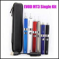 Cheap E Cigarette evod mt3 electronic cigarette starter kit with 650-1100mah evod battery and mt3 atomizer clearomizer e cig cigarettes DHL Free