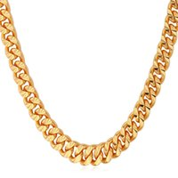 Chains 18k gold chain for men - 18K Real Chunky Gold Layered New K Stamp Curb Link Chain Necklace For Women Men N838