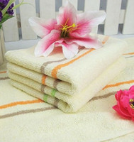 bath towels striped - Luxury striped cotton fiber bath face hair hand towels bathroom home cm Z8Z MT020