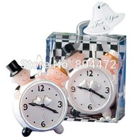 Wholesale Handmade bride and groom Clock wedding decoration candle PVC box Package