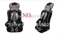 Wholesale FG1511 Baby Car Seat Portable Child Car Safety Seat Rabbit Pattern Annbaby Car Cushion White with Black Color