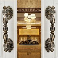antique wood gates - 350mm vintage big gate door handles bronze glass door handles antique brass wood door pulls Europe style villadom door handles