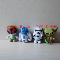 Wholesale Star Wars Plush Toy Cartoon Star Wars Character Plush Doll Super Deformed Boba Robot Stromtrooper Darth Stuffed Toy k1601p
