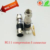 Wholesale RG11 Compression F Connectors For RG11 Cable COAX F Connector RG59 RG6 RG11 Waterproof F Connector RF Connectors