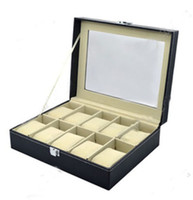 Wholesale 2015 H Quality Watch Leather Box Top Display Lockable Jewelry Organizer Storage Case