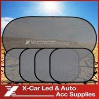 Wholesale 5 Set Black Auto Sun Visor Car Sun Shade Car Window Suction Cup Car Curtain Auto Sun Shade Car Styling Covers Sunshade