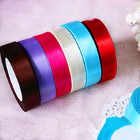 Wholesale Single Color DIY craft gift ribbons roll used wedding decorations for sale mm Yard
