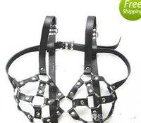 Wholesale Leather Harness Chastity Devices Bra Slave Chest Bondage SM BDSM Gear Sex Toy for Women