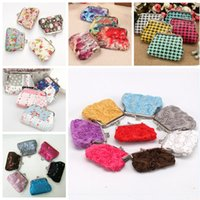Wholesale Cotton Tartan Fabric Wholesale - Many design leopard crocodile Zebra rose embroidered catoon Lady bags Coin purse Coin bags Money bags Wallet hasp Key holders small gift