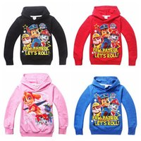 hoodies wholesale - Paw Marshall Chase Rubble Toddler baby boys girls clothes Cotton hoodie Coat Kids Spring Autumn patrol Clothes for year Outwear clothing