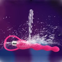 Wholesale Silicone Vibrating Vagina Anal Beads Vibrator Waterproof Sex toy for Men or Women Soft Silicon Anal Sex Toy H14313
