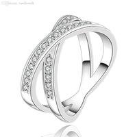 2015 Al por mayor-Nuevos plata 925 anillos de los anillos de los cristales de boda para las mujeres amantes de compromiso anillos CZ Diamond Rings Anéis anel feminino anillos