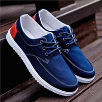 Wholesale New Hot Sale Spring new fashion Men Shoes Mens canvas shoes Casual Breathable Shoes flat shoes