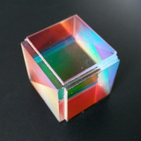 Wholesale Defective Cross Dichroic X Cube Prism RGB Combiner or Splitter Laser Modules Decoration Glass