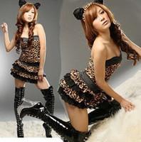 Леопардовый костюм латекс фото 279-76