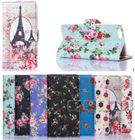 Wholesale For iphone Plus inch pastoral Natural Little Palace flower Wallet PU leather stand case back cover mix color by dhl