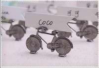 bicycle place - 20pc Vintage Bicycle Name Number Table Place Card Holder For Wedding Party Favor
