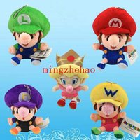 baby luigi plush - 5 Set Super Mario Baby Mario Luigi Wario Waluigi Prinecess Peach Plush Doll Toys For Children cm