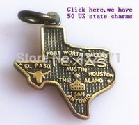 fashion jewelry usa - 50 USA states charms high quality fashion us state charms pendants jewelry for bracelets necklace in silver bronze tone