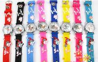 Precio de Gifts-2015 relojes suaves de la venda de reloj del silicón de los nuevos relojes del cuarzo de Tom de la historieta y de Jerry 3D para los niños Regalo de cumpleaños de la Navidad
