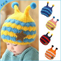 baby sweater crochet pattern - 2016 Winter New Styles Children Sweater Hat Boys and Girls Cartoon Pattern Baby Crochet Cap pc MZ21023