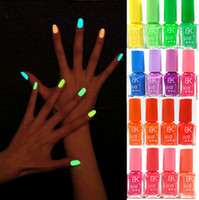 Wholesale BK Nail Polish Colors optional Candy Color Neon Fluorescent Non toxic Nail gel Nail Varnish Lacquer Paint Nail Luminous Nail enamel