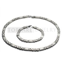 Wholesale Stainless Steel Byzantine Chain Necklace Bracelet mm Silver SSJ30